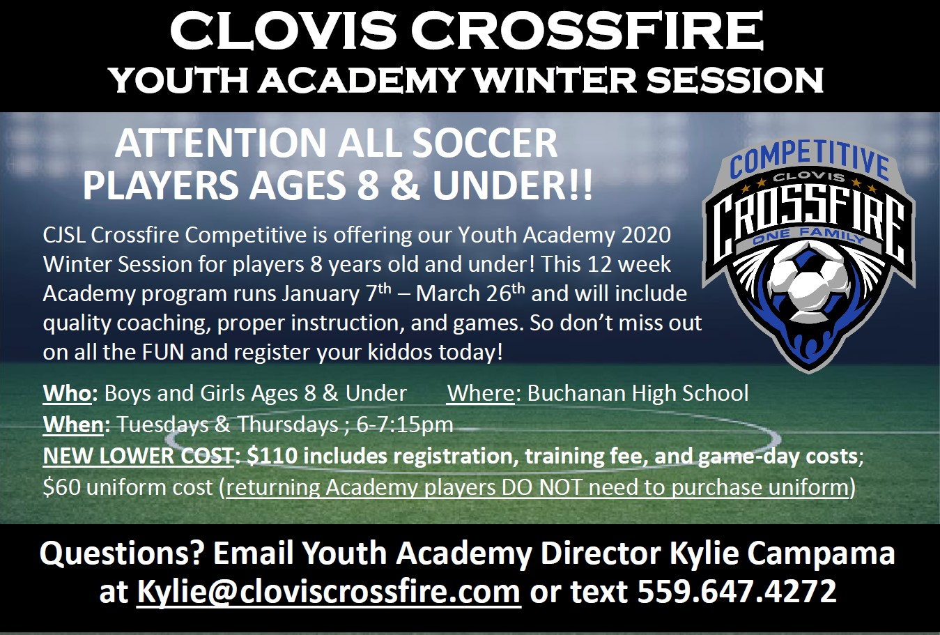 Fresno State Winter Intersession 2020.2020 Youth Academy Winter Session 8 And Under Clovis